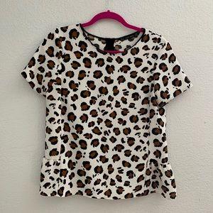 Zara cheetah peplum top